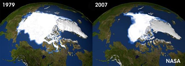 Globe-artic-ice meltin