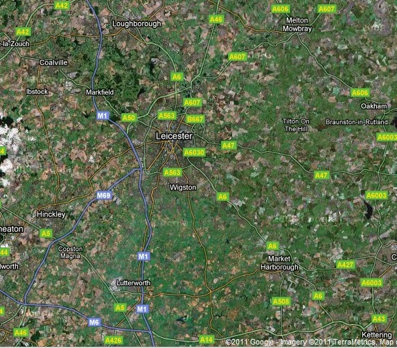 Leicester - Google maps
